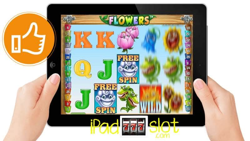 Preview of the Flowers NETENT iPad Slots Game