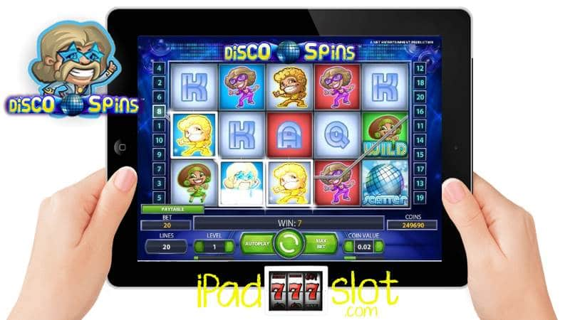 Disco Spins iPad Slot Game Free Play & Review