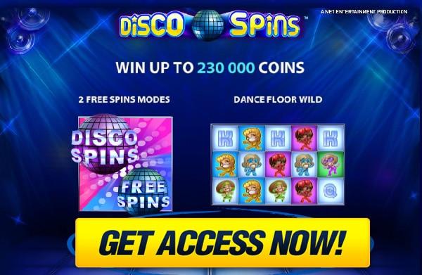 Free play on iPad Disco Spins slots