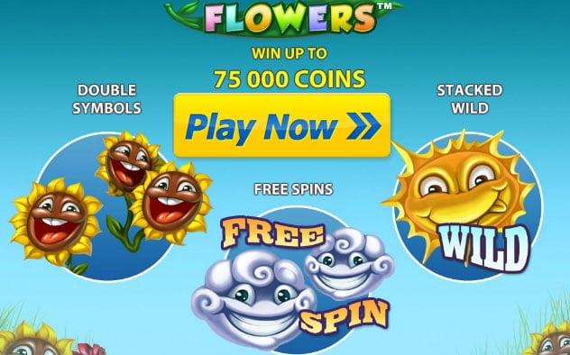 Free play Flowers iPad slot game