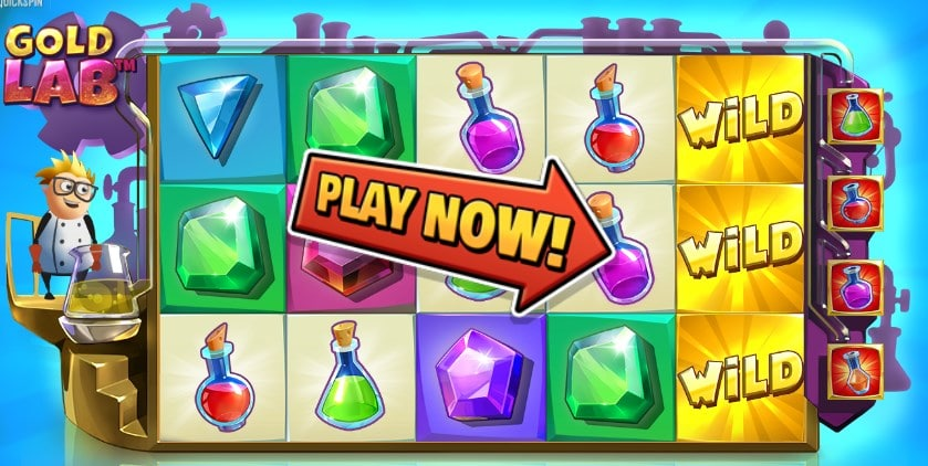 Quickspin Gold Lab Free iPad Slot Review