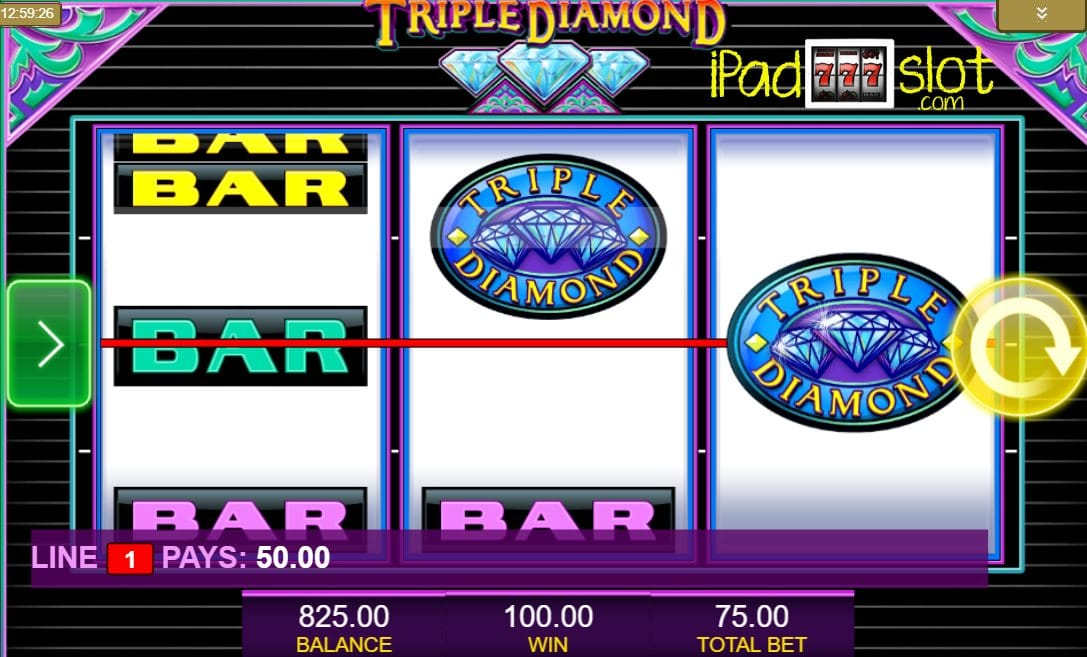 Triple Diamonds Free Slots