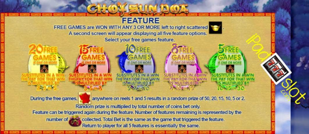 Choy sun doa slot machine bonus win