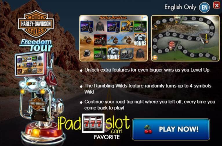 Harley-Davidson Freedom Tour Slot Machine