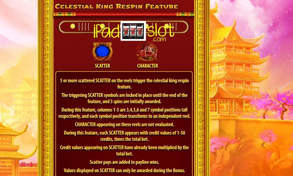 Celestial king bally slot game Akçadağ