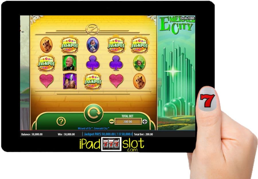 The Wizard of Oz Emerald City WMS Slots App