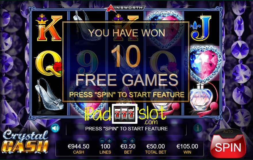 Crystal cash ainsworth slot game challenge fever