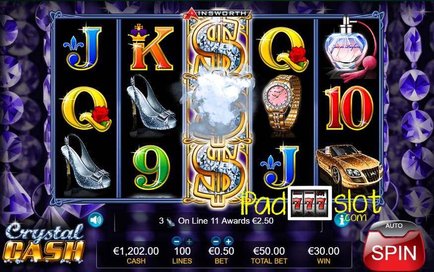 Crystal cash ainsworth slot game words