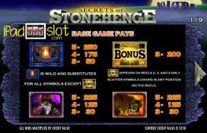 Secrets Of Stonehenge Free Igt Slot App Base Pays Ipad
