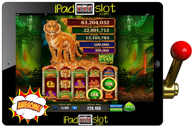 Mighty Cash Double Up Lucky Tiger Free Pokies