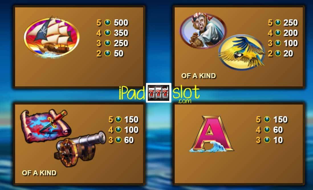 Five Pirates Free Lightning Box Online Slot Game Paytable